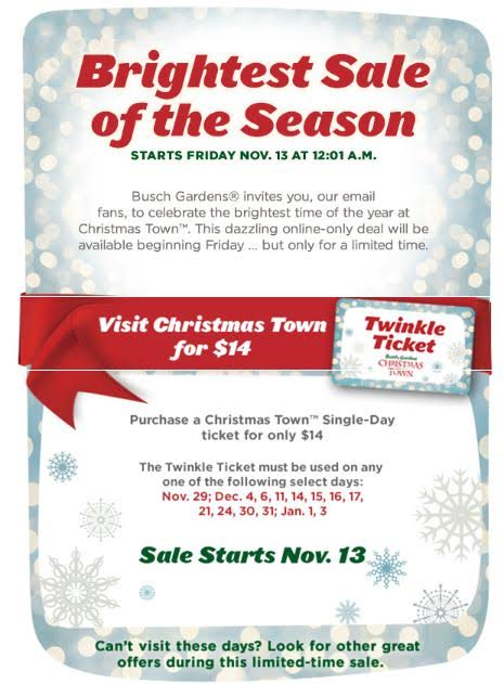 Busch Gardens Christmas Town Brightest Sale Of The Season, The ...
