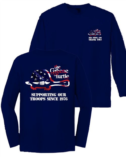 The greene turtle veterans day free meal and t shirt sale for Green turtle t shirts review