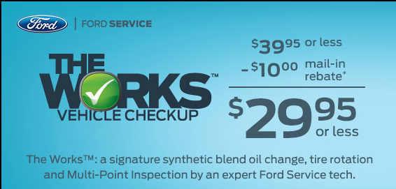Beach Ford Service >> Beach Ford The Works Vehicle Checkup Offer