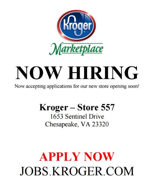 Kroger Is Hiring At Their Chesapeake Virginia Location