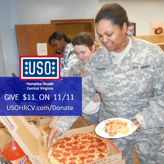 Give $11 On 11/11 To Support THE USO Nationally And