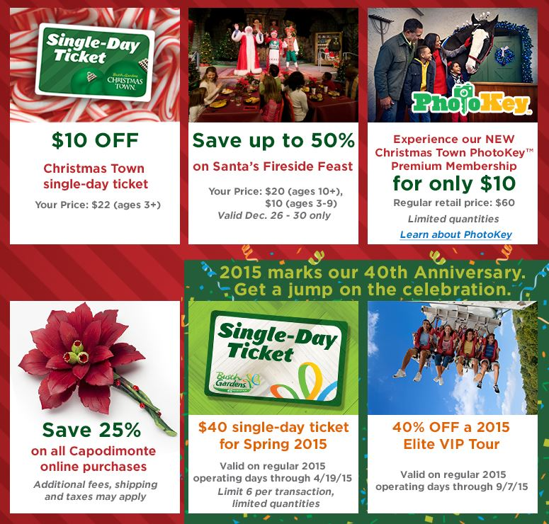 Busch gardens discount tickets 2 park fun card free 2 park for Bush gardens tickets