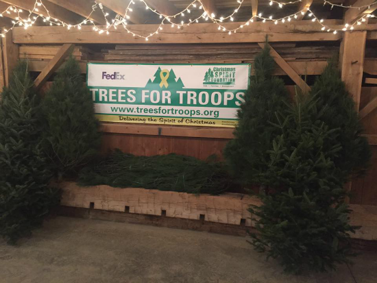 the 2017 schedule locations for free christmas trees from trees for troops - Free Christmas Trees