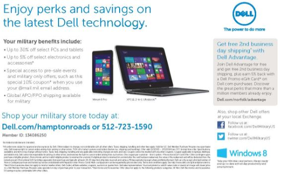 Dell military discount coupon code