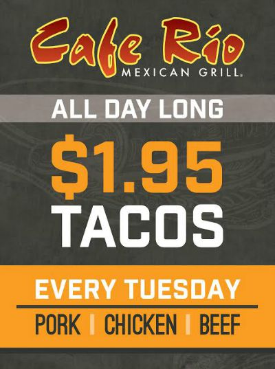 Cafe Rio Menu Daily Specials