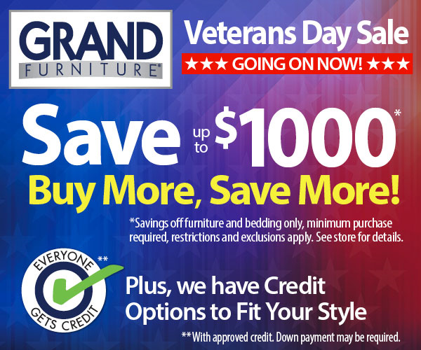 In Honor Of Veterans Day All Six Hampton Roads Grand Furniture Stores Are Celebrating The