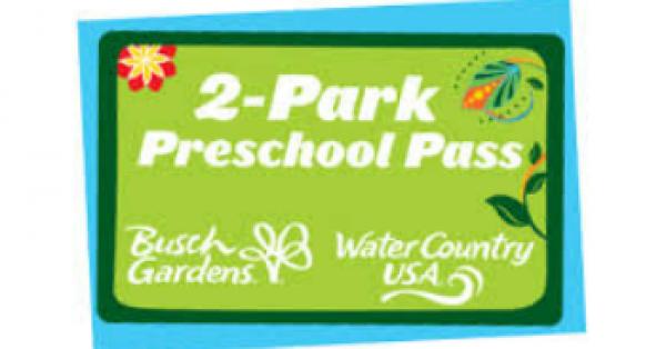 The 2 Park Preschool Pass From Busch Gardens Williamsburg
