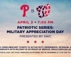 63225c06 ... versus Philadelphia Phillies on Tuesday, April 2, 2019 Military  Appreciation Details To pay tribute to the men and women who serve in the  U.S. military, ...