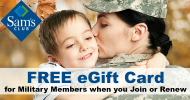 Sam's Club-Military Discount Offer